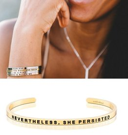 MantraBand Nevertheless, She Persisted - Gold