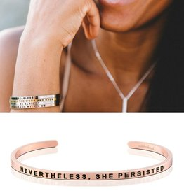 MantraBand Nevertheless, She Persisted - Rose Gold