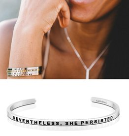 MantraBand Nevertheless, She Persisted -Silver