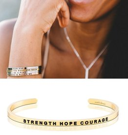 MantraBand Strength Hope Courage - Gold