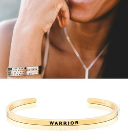 MantraBand Warrior Mantra Bracelet - Gold