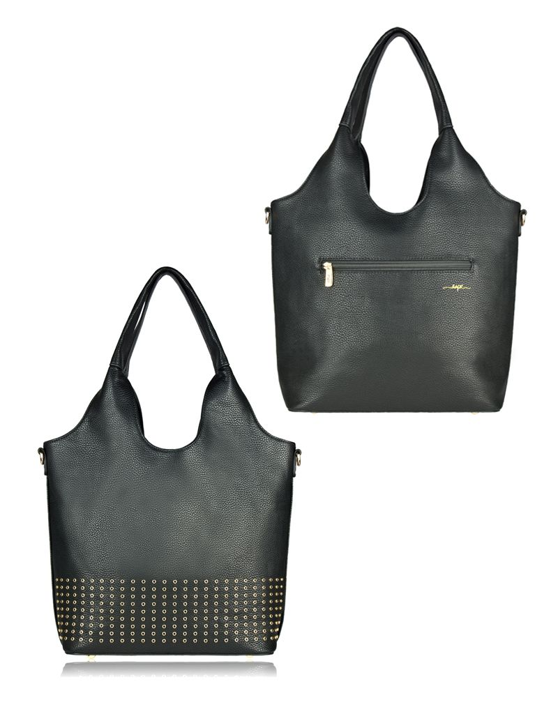 espe/storm Care Bag w/ Gold Studs Black