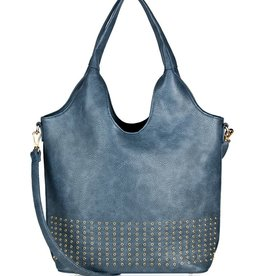 espe/storm Care Bag w/ Gold Studs Blue
