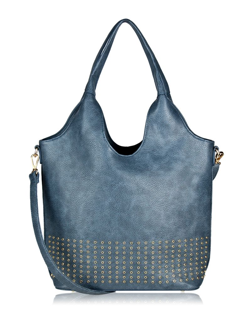 espe/storm Care Bag w/ Gold Studs Blue