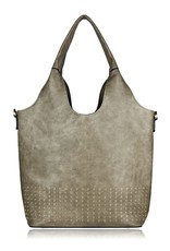 espe/storm Care Bag w/ Gold Studs Khaki