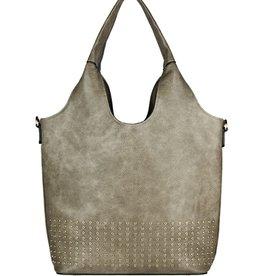 espe/storm Care Bag w/ Gold Studs Khaki