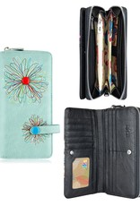 espe/storm Abstract Long Wallet Aqua
