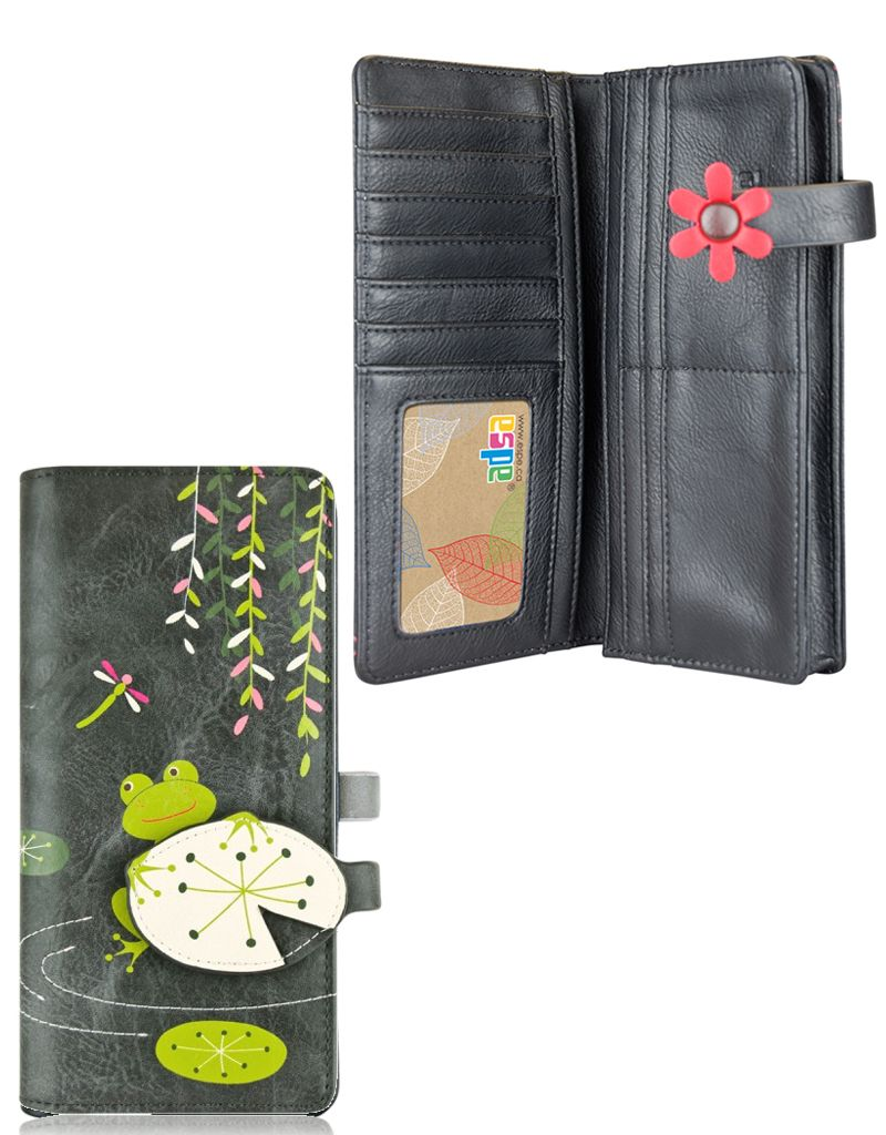 espe/storm Frog Long Wallet Grey