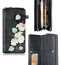 espe/storm Hibiscus Long Wallet Black