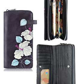 espe/storm Hibiscus Long Wallet Blue