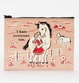 Blue Q I Hate Everyone Too Zipper Pouch