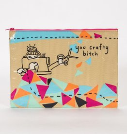 Blue Q Crafty Bitch jumbo pouch
