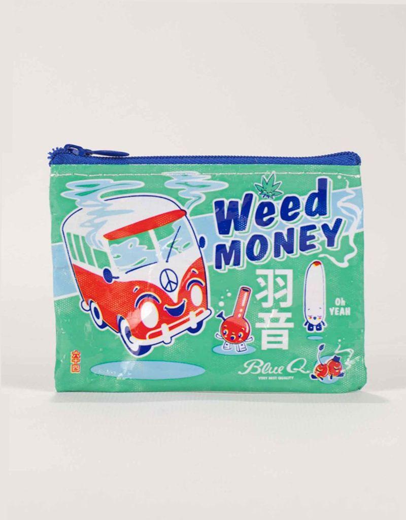 Blue Q Weed Money Coin Purse