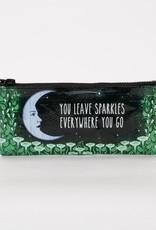 Blue Q You Leave Sparkle Pencil Case