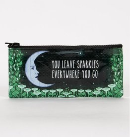 Blue Q You Leave Sparkle Pencil Case