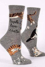Blue Q People I Love: Cats Women's Crew Socks