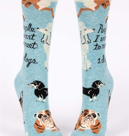 Blue Q People to Meet: Dogs Women's Crew Socks