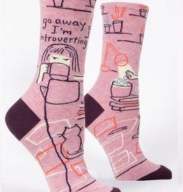 Blue Q Go Away Introverting Women's Crew Socks