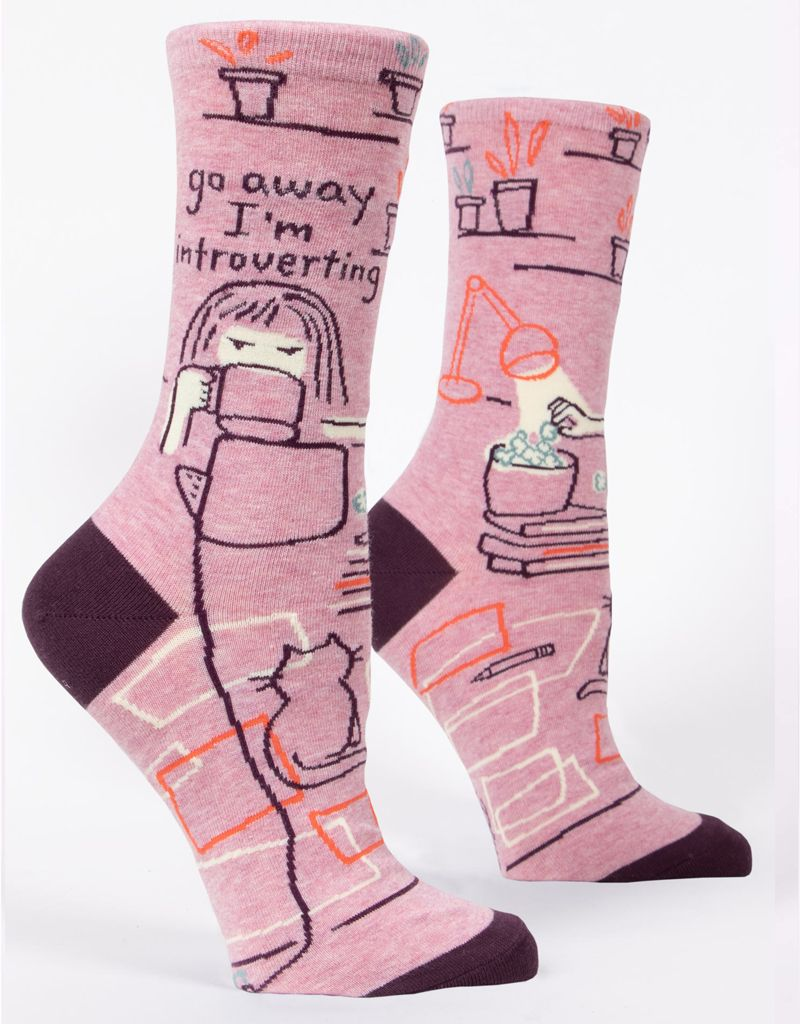 Blue Q Go Away Introverting Women's Crew Socks