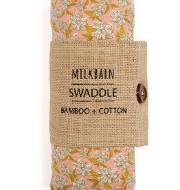 Milkbarn Bamboo Swaddle Rose Floral