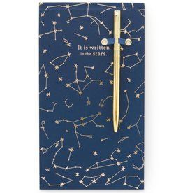 designworks Chunky Note Pad with Pen - Constellations