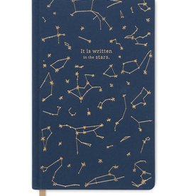 "designworks Navy Cloth Journal Notebook ""Constellations"""