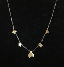 Roost Moon & Stars Chain Necklace