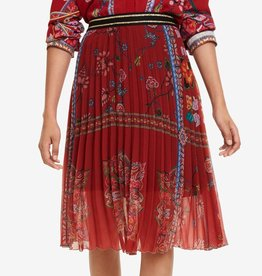 Desigual Red Francia Carmin Skirt