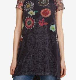 Desigual Betsy Marino Floral T-Shirt Tunic