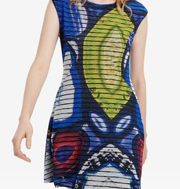 Desigual Mineral Azul Klein Dress