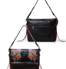 Desigual Mex Kiev Mini Floral Woven Messenger Bag