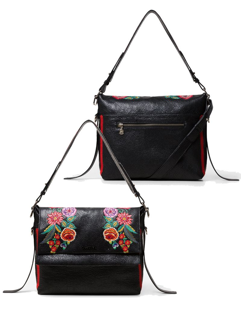Mex Kiev Mini Floral Woven Messenger Bag - Maria Luisa Boutique fdd8b90644d