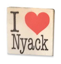 Paisley and Parsley Stone Coaster, I (Heart) Nyack