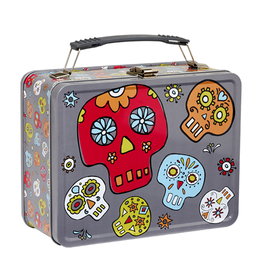 Ore Retro Metal Lunch Box<br /> Dia Muertos