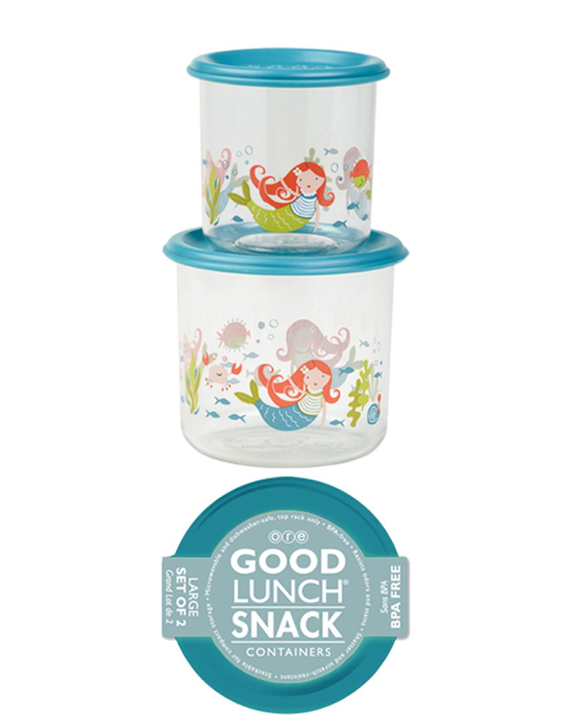 Ore Set of 2 Large Snack Containers<br /> Isla Mermaid