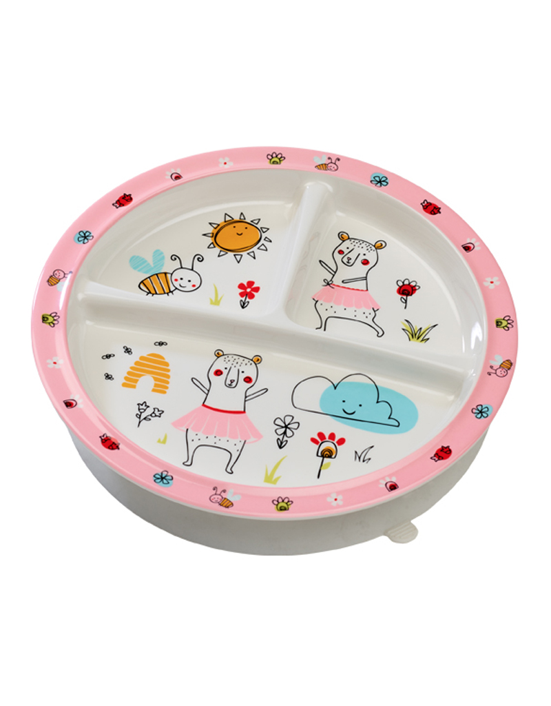 Ore Divided Suction Plate Clementine The Bear