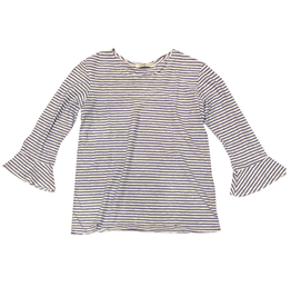 Cut Loose Linen Stripe Flare Sleeve Top