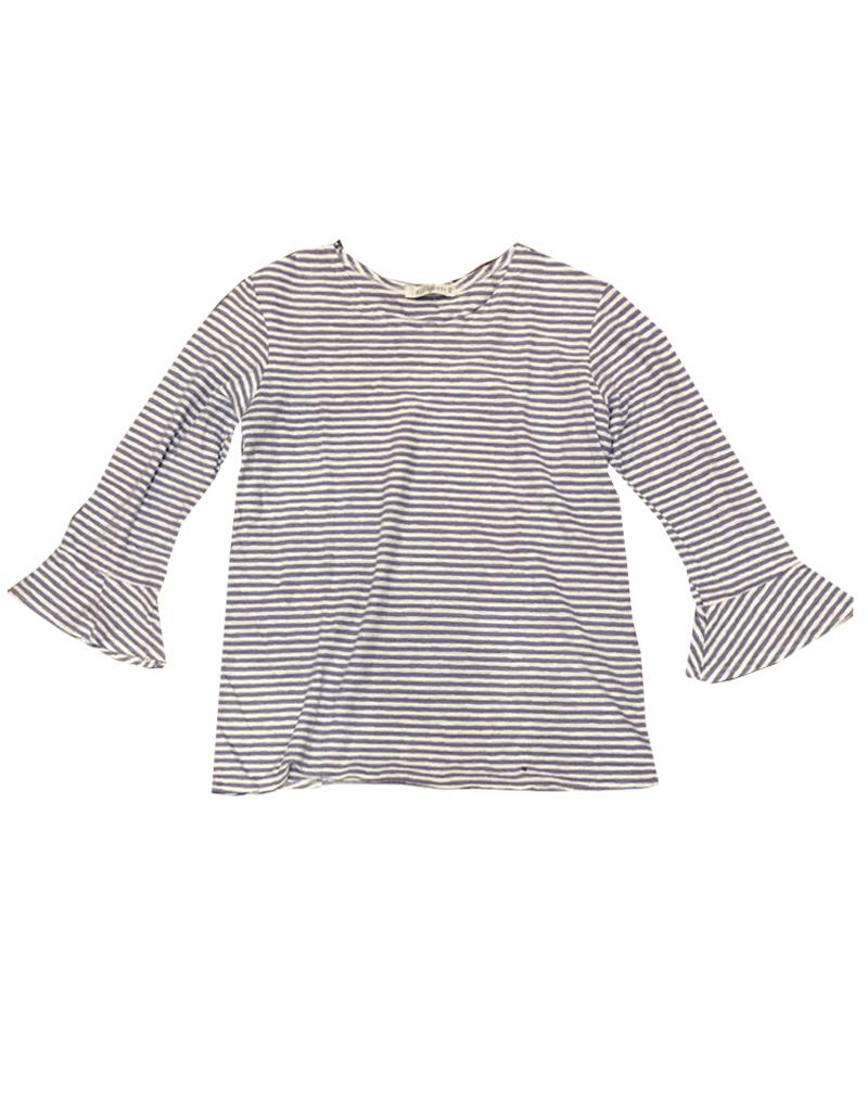 Cut Loose Linen Stripe Flare Sleeve Top