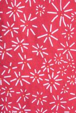 Mata Traders Ruffled Midi Dress Red Daisy