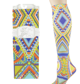 Sox Trot Native Markings Adult Knee Highs