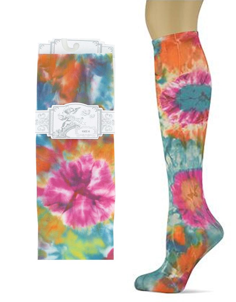 Sox Trot Tie N' Dye Adult Knee Highs