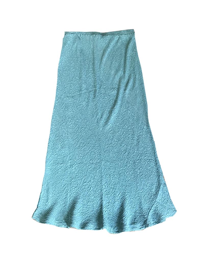 URU 3/4 Bias Signature Fabric Silk Skirt