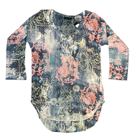 Nally & Millie Scroll Print Top