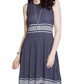 LD International Sleeveless Polka Dot Dress