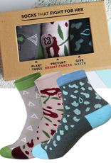 Conscious Step Women's Sock Collection Box IV: Plant Trees, Fight Breast Cancer, Give Water