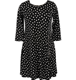 Comfy Milan Dress White Dot