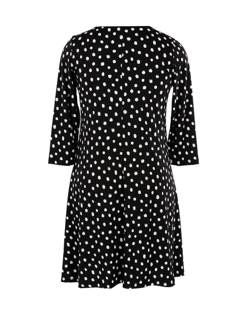 Comfy Milan Dress White Dot