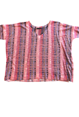 Nally & Millie Fuschia Multi Stripe Top