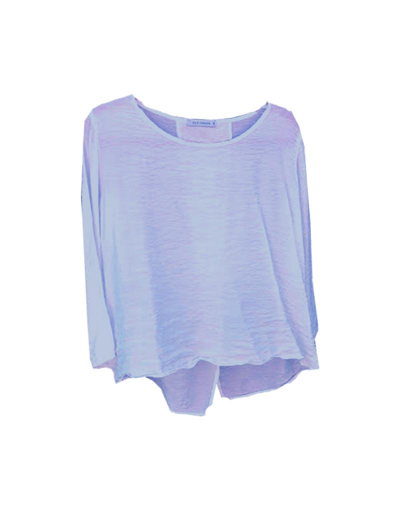198d345bce0 3/4 Sleeve Split-Back Top - Maria Luisa Boutique