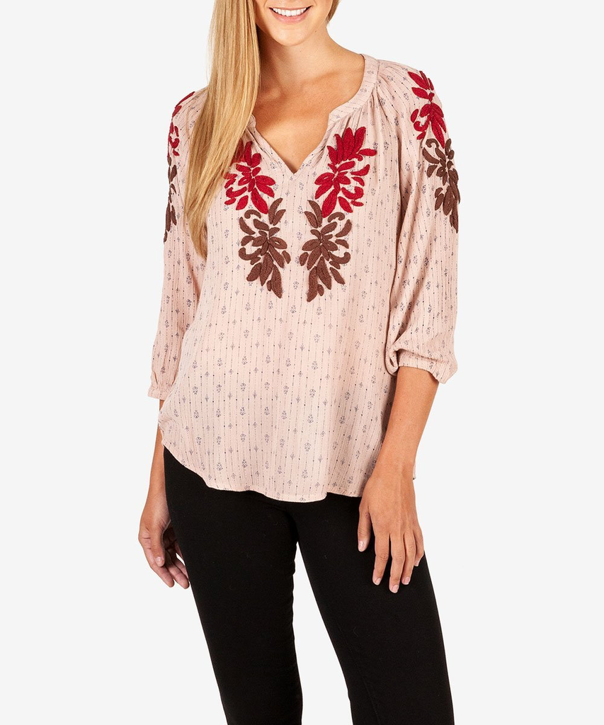 Kut from the Kloth Misato Embroidered Peasant Blouse